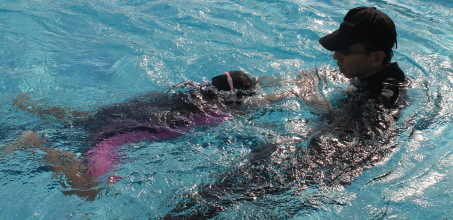 swimming correction
